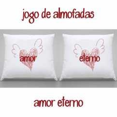 Jogo Almofadas Personalizadas Amor Eterno