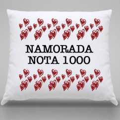 Almofada Personalizada Namorada Nota 1000