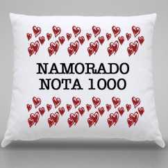 Almofada Personalizada Namorado Nota 1000