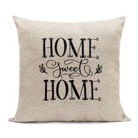 Almofada Decorativa Linho Home Sweet Home