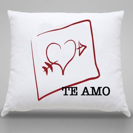 Almofada Personalizada Coração Te Amo
