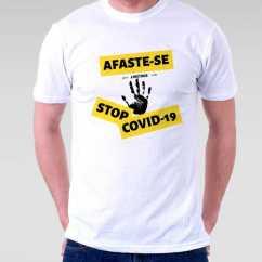 Camiseta Afaste-se Stop Covid 19