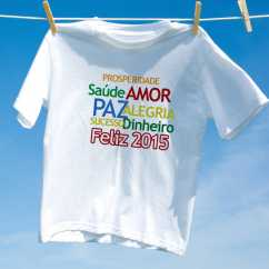 Camiseta Feliz 2014 Frases Positivas