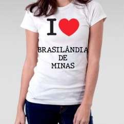 Camiseta Feminina Brasilandia de minas