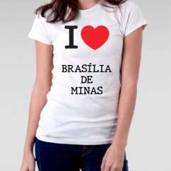 Camiseta Feminina Brasilia de minas