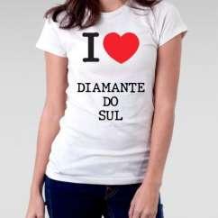 Camiseta Feminina Diamante do sul