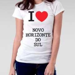 Camiseta Feminina Novo horizonte do sul