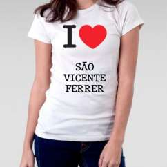 Camiseta Feminina Sao vicente ferrer