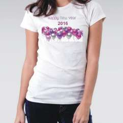 Camiseta Feminina 2016 New Year