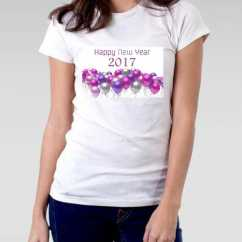 Camiseta Feminina 2017 New Year
