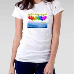 Camiseta Feminina  Ano novo 2017 Balões