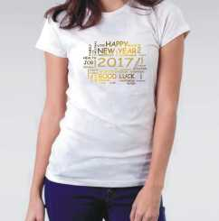 Camiseta Feminina Ano Novo Frases Positivas