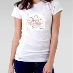 Camiseta Feminina Ano Novo Vintage