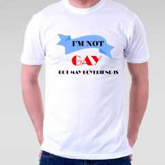 Camiseta I am not gay