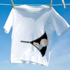 Camiseta Gravida Menino Zipper