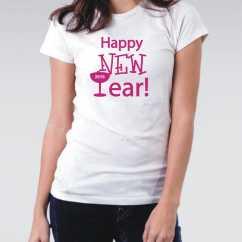 Camiseta Feminina Happy New Year