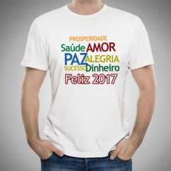 Camiseta Masculima Ano Novo 2017 Frases