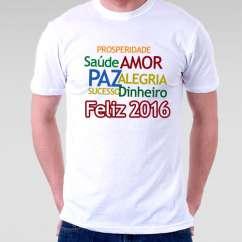 Camiseta Masculima Ano Novo 2016 Frases