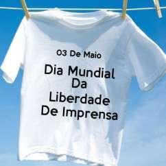Camiseta Dia Mundial Da Liberdade De Imprensa