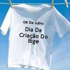 Camiseta Dia Da Criação Do Ibge