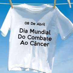 Camiseta Dia Mundial Do Combate Ao Câncer