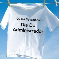 Camiseta Dia Do Administrador