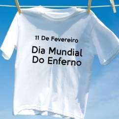 Camiseta Dia Mundial Do Enferno