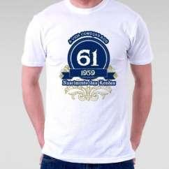 Camiseta a vida começa aos 58