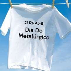 Camiseta Dia Do Metalúrgico