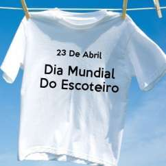 Camiseta Dia Mundial Do Escoteiro