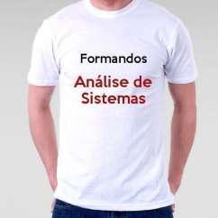Camiseta Formandos Análise De Sistemas