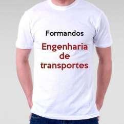 Camiseta Formandos Engenharia De Transportes