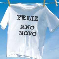 Camiseta feliz ano novo