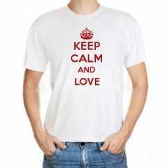 Camiseta Keep Calm And Love