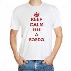 Camiseta Keep Calm Bebe A Bordo