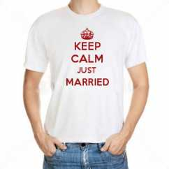 Camiseta Keep Calm Just Married