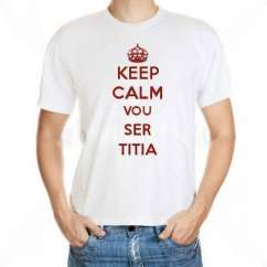 Camiseta Keep Calm Vou Ser Titia