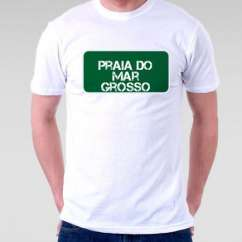 Camiseta Praia Praia Do Mar Grosso