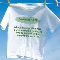 Camiseta Provérbios 18 21