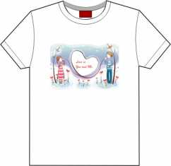 Camiseta Dia dos namorados Love is...