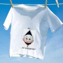 Camiseta grávida só espiando