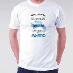 Camiseta Nascidos Janeiro Masculina
