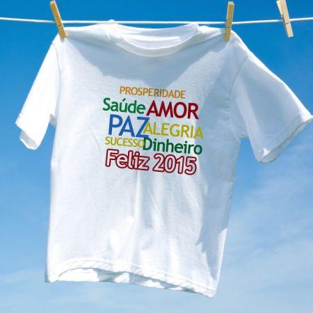 Camiseta Feliz 2015 Frases Positivas