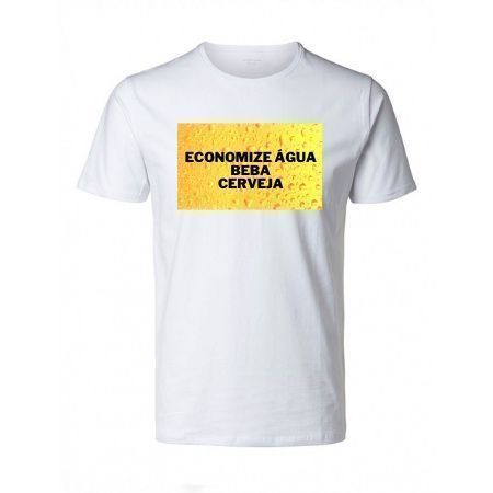Camiseta Economize Agua Beba Cerveja POP