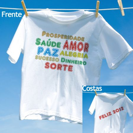 Camiseta Feliz 2012