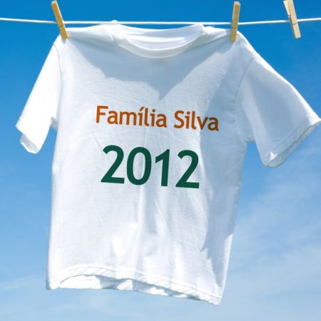 Camiseta Feliz Ano Novo Familia 2014