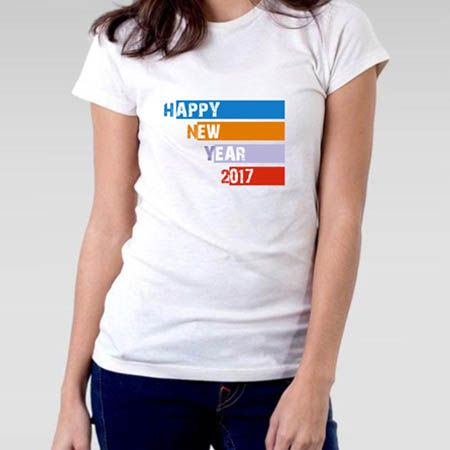 Camiseta Feminina Ano novo 2017 Happy