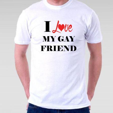 Camiseta LGBT I Love My Gay Friend