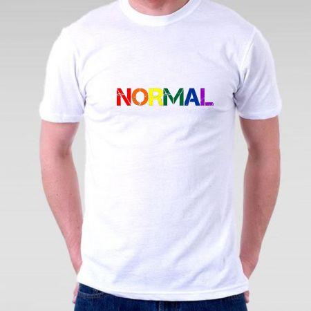 Camiseta Normal com Cores LGBT