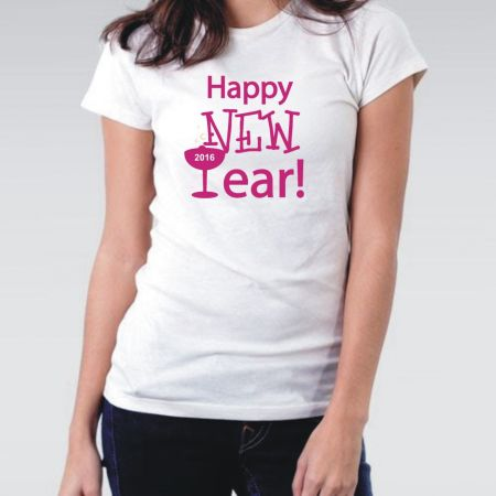 Camiseta Feminina Happy New Year